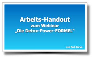 Arbeitshandout Detox Formel